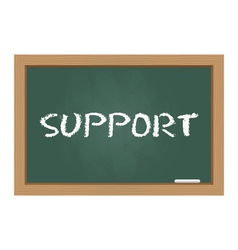 Support chalkboard vector