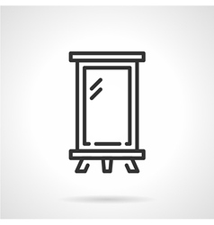 Billboard black line icon vector