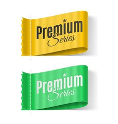 Labels premium series vector