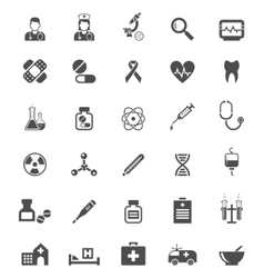 Medical icons on white tablets medicines pills vector