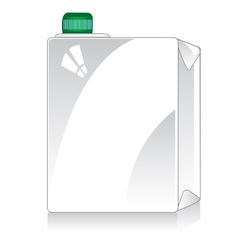 Square package on white vector
