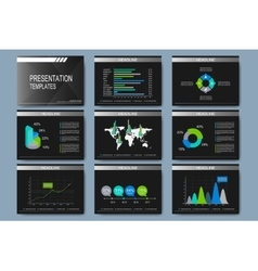 Set of templates for presentation slides vector