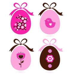 Retro easter eggs vector