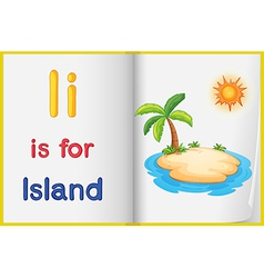 A picture of an island in a book vector image vector image