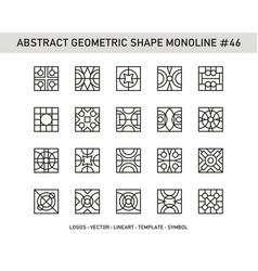 Abstract geometric shape monoline 46 vector