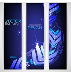 Arrow Blue Background With Place For Your Text vector image vector image