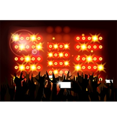Background crowd of party people vector image vector image