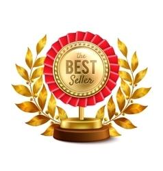 Best seller gold medal realistic design vector