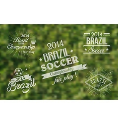 Brazil 2014 vintage label set vector image
