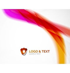 Business wave purple and orange vector image vector image