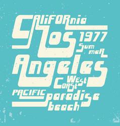 california - los angeles vintage tshirt stamp vector image vector image