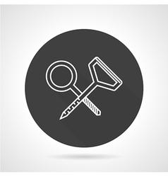 Climbing hooks black round icon vector