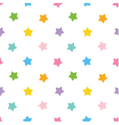 cute colorful stars seamless pattern background vector image vector image