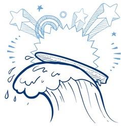 Doodle pop surf vector