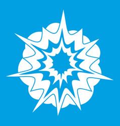 Fire explosion icon white vector