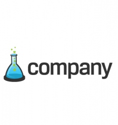 flask logo for scientific tech vector image vector image