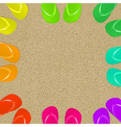Flip Flops And Sand vector image