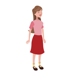 girl daughter family member vector image vector image