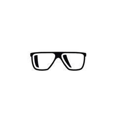 isolated geek icon eyeglasses element can vector image vector image