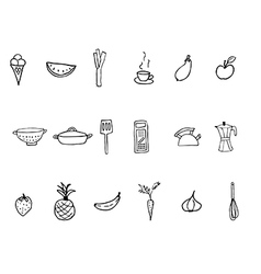 Kitchen droodles vector