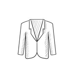 Male jacket sketch icon vector image