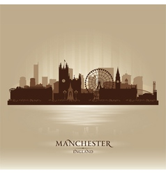 Manchester england skyline city silhouette vector
