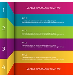 Modern 3D colorful infographic template vector image vector image