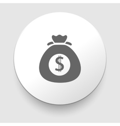 Money icon with bag vector