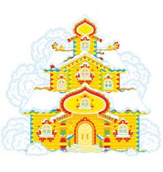 ornate tower on christmas vector image