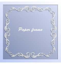 paper square frame vector image