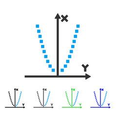 Parabole plot flat icon vector