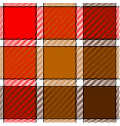 Red color check plaid seamless pattern vector