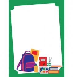 school and eduction template vector image