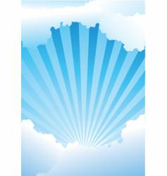 Sky with rays vector