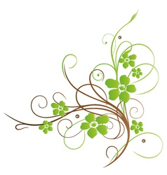Spring floral element vector image vector image