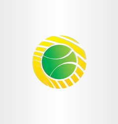 tennis ball symbol design vector image vector image