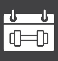 Training schedule glyph icon fitness and sport vector