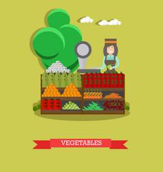 Vegetables concept in flat vector
