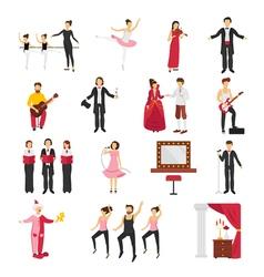 Theatre People Set vector image