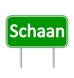 Schaan road sign vector