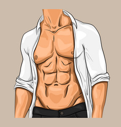 comic attractive young man vector image
