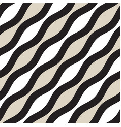 Seamless geometric pattern monochrome wavy vector
