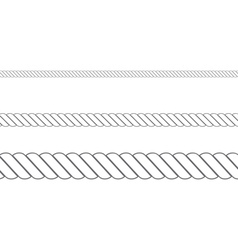 Rope in three sizes2 vector image