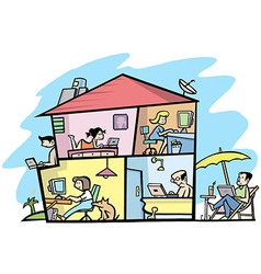 Wireless house vector image