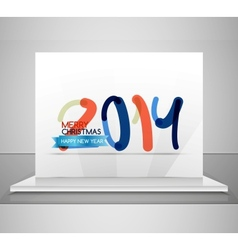 2014 happy new year design template vector