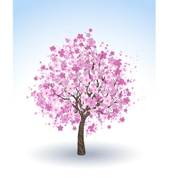 Flowering cherry tree vector