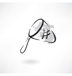 hoop-net grunge icon vector image