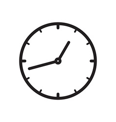 Black icon of clock vector