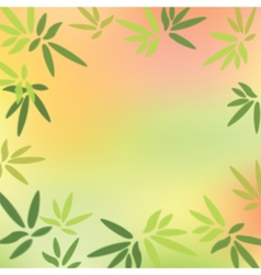Green leaves on colorful background vector