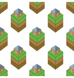 Ground with house pattern vector image